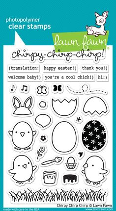 Lawn Fawn Chirpy Chirp Chirp Stamp Set @ OandHDesigns.com