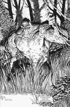Swamp Thing by Arthur Adams #swampthing #dccomics #comic
