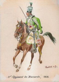 Ussaro del 11 rgt. ussari, 1802