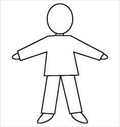Body template for kids human body outline printable reference website photo gallery examples with human body . Wolf Scouts, Tiger Scouts, Cub Scouts, Girl Scouts, Cub Scout Games, Cub Scout Activities, Activities For Girls, Body Template, Person Template