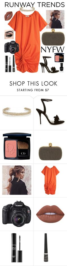 """""""NYFW VI"""" by staceybuijs ❤ liked on Polyvore featuring Maison Margiela, Sophia Webster, Christian Dior, Alexander McQueen, A Détacher, Eos, Lime Crime, MAKE UP FOR EVER, Rimmel and Deborah Lippmann"""