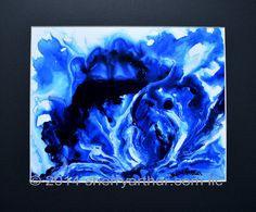Abstract Blue White Art Print of Original Painting 8x10 Print  Matted To 11x14 by sherryarthur on Etsy