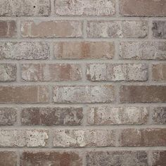 Old Mill Brick Rushmore 0.5 in. x 7.625 in. x 2.25 in. Genuine Clay Thin Brick Sample (3-Piece)-S-37003 - The Home Depot