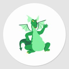 Shop Waving Green Dragon Classic Round Sticker created by Personalize it with photos & text or purchase as is! World Of Fantasy, Fantasy Art, Cartoon Dragon, Green Dragon, Weird And Wonderful, Round Stickers, Custom Stickers, Activities For Kids, Waves