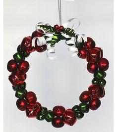 10u0027u0027 Jingle Bell Wreath  Red/Green : Christmas Decor : Home Decor Design