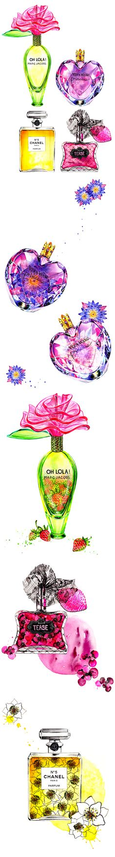 Perfume Obsession-Illustration by Sunny Gu #fashion #illustration #fashionillustration #perfume
