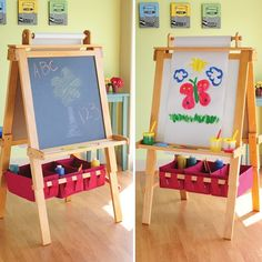 Kids' Easels - CP Toys PineWood Double Sided Art Easel with Dry Erase and Chalkboard * Check out the image by visiting the link.