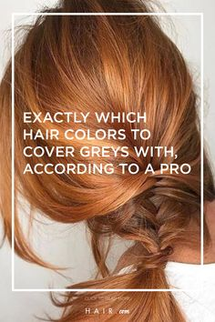 Which hair colors to cover grey hair with doesn't have to be a mystery! Which Hair Colour, Cool Hair Color, Hair Colors, Cover Gray Hair, Grey Hair, Professional Hair Color, Loreal, Cool Hairstyles, Hair Beauty