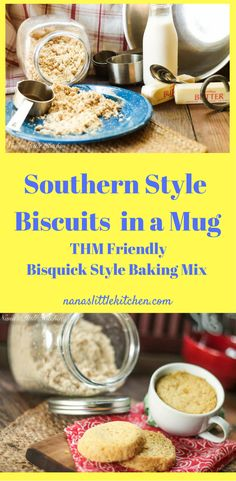 """A quick to mix up """"buttermilk"""" style biscuit in a mug!"""