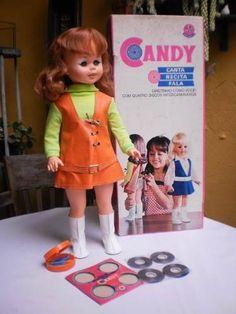 linda boneca candy disco brinquedo antigo estrela anos 70
