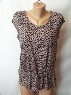Летняя леопардовая блузка с пояском ZARA