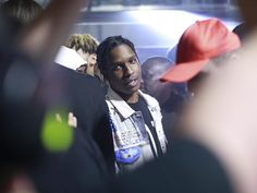 From #calvinklein - Captured in the crowd: @asaprocky at last night's event. #mycalvins