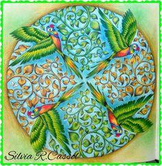 Magical Jungle -Mandala de Pássaros de Johanna Basford By Sílvia R.Cassol