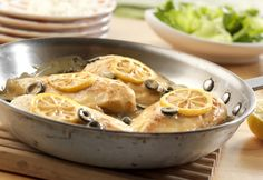It takes just 20 minutes to make this deliciously different dish featuring sauteed chicken breasts simmered in a creamy lemon sauce, garnished with flavorful olives and served over rice. Herb Roasted Chicken, Lemon Chicken, Broccoli Chicken, Incredible Edibles, Cream Of Chicken Soup, So Little Time, Love Food, Chicken Recipes, Chicken Meals