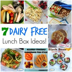These 7 Dairy Free School Lunch Ideas are perfect for getting your kids that have to pay attention to allergies out of the same lunch rut! Plus they are delicious for anyone!