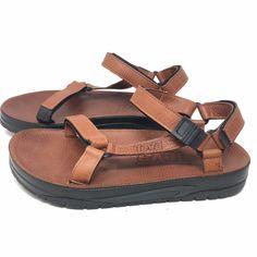 c3b35c23524af3 Extra Off Coupon So Cheap Teva Mens Terra Fi 4 Leather Hiking Trekking  Strap Sandals Light Brown Sz 11 M