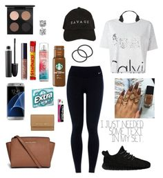 """""""8th Grade Invasion Tomorrow"""" by ahriraine ❤ liked on Polyvore featuring NIKE, MAC Cosmetics, Humble Chic, Calvin Klein Jeans, Samsung, MICHAEL Michael Kors, Michael Kors, Chapstick, Blue Nile and adidas Originals"""