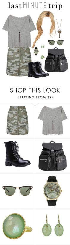"""Last Minute Trip"" by alisha2700 ❤ liked on Polyvore featuring Topshop, MANGO, H&M, Ray-Ban, Olivia Pratt, Jona, Anne Sportun and The Giving Keys"