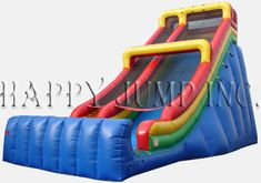 """Our Giant 28'' Single Lane Slide is an absolute show-stopper""""""""  Popular with kids and adults, this slide is as fast as it looks""""  it''s a great revenue product."""