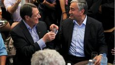 Rival Greek and Turkish Cypriot leaders took a stroll together on both sides of the divided capital's medieval center, sharing snacks and drinks, to raise the feel-good factor as talks aimed at reunifying the split island kick into gear. Cyprus, Feel Good, Greek, Europe, World, Medieval, Snacks, Island, Glasses