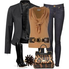 Leopard Jeans Outfits | Jeans Outfit (Dressy Casual)