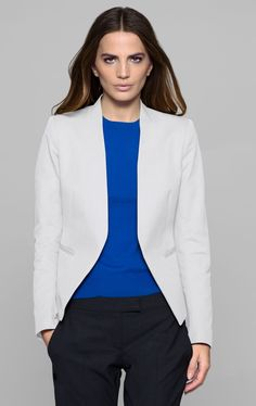2bdd1154aeb08 Theory Lanai Blazer in Bistretch Cotton Blend - ShopStyle