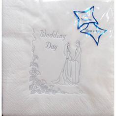 Luxury Wedding Day Napkins - Silver on White Napkins http://www.amazon.co.uk/dp/B002HHTQB8/ref=cm_sw_r_pi_dp_veulvb02R9WDF