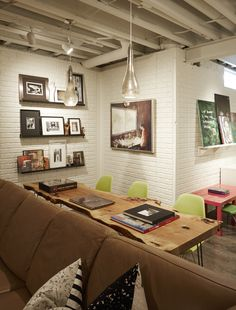 Cheap Basement Remodel, Basement Makeover, Basement Renovations, Home Renovation, Unfinished Basement Playroom, Basement House, Interior Design And Real Estate, Basement Living Rooms, Chicago House
