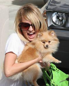 Nicole Richie and her pom