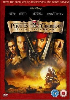 """Pirates Of The Caribbean: The Curse Of The Black Pearl (2003) directed by Gore Verbinski, starring Johnny Depp, Geoffrey Rush, Orlando Bloom, Keira Knightley, Jack Davenport, Jonathan Pryce, Lee Arenberg and Mackenzie Crook. """"Blacksmith Will Turner teams up with eccentric pirate """"Captain"""" Jack Sparrow to save his love, the governor's daughter, from Jack's former pirate allies, who are now undead."""""""