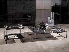 Kataloge zum Download und Preisliste für niedriger quadratischer couchtisch Calder | couchtisch aus marmor, serie Calder direkt vom Hersteller Minotti