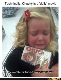Technically, Chucky is a 'dolly' movie - iFunny :) Chucky Horror Movie, Horror Movies Funny, Child's Play Movie, Movie Pic, Chucky And His Bride, Friday The 13th Funny, Death Aesthetic, I Dont Know Anymore, Dark Memes