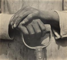 'Worker's Hands, Mexico' Gelatin silver print by Tina Modotti (American (born in Italy), Image and text information courtesy MFA Boston. Tina Modotti, Edward Weston, Louise Bourgeois, Working Hands, Getty Museum, Moma, Black And White Photography, Monochrome Photography, Art Photography