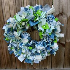 Southern Priss Designs: Fabric Wreath DIY Tutorial  It's Seahawks colors!!!!