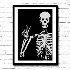 Skull print Poster Skeleton skull art print Peace sign cool poster grateful Dead gift for deadhead home decor wall art print black and white Vintage Photographs, Vintage Images, Photoshop Rendering, White Wall Decor, Hand Images, Skeleton Art, Skull Print, Art Print, Historical Images