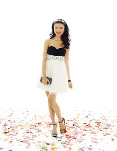 Two-Tone Embellished Short Prom Dress jcp.com (221-0312)