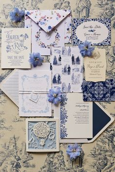 Wedding Theme Ideas Blue and white wedding theme ideas - Inspired by the romantic elegance of the blue and white French 'toile de jouy' print, let complementary shades and delicate details dictate your big-day look Diy Invitation, Cheap Wedding Invitations, Wedding Stationary, Blue And White Wedding Themes, Blue White Weddings, Blue Wedding, Fall Wedding, Wedding Card Design, Wedding Cards