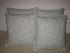 Cushions in Marie linen fabric from Clarke & Clarke