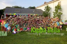 Kappa Delta Bid Day at USM!