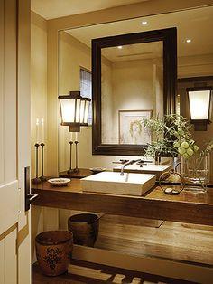 Modern Bathroom Vanity/Sink. Truax Lighting Design & Consultation