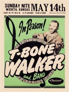 Rock and Roll Concert Posters | Raucous Records > Posters > 1950s Concert Poster - T-Bone Walker