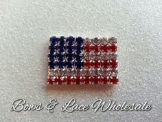 1 piece: American Flag Metal Button, Cabochon, Bling