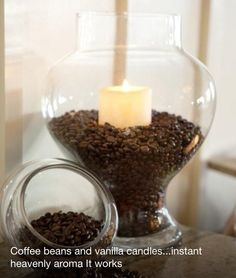 Coffee beans & vanilla candle ~