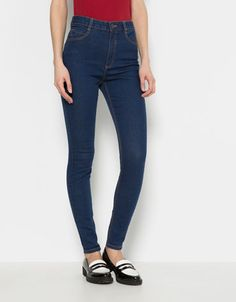 Jean super skinny. Taille haute. Bershka. - Woman - Bershka France