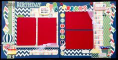 12x12 Scrapbook Page Happy Birthday Themed by DaisyTreehouseDesign