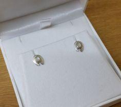 925er Silber Ohrstecker Ohrringe Achat weiss SO247 von Schmuckbaron