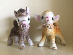 Rare Adorable Porcelain Baby Lamb and Fawn Sugar by CandyCollins, $110.00