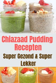 Chiazaad pudding recepten. Super snel en simpel te maken en perfect als een gezond,ontbijt of toetje. Healthy Diners, Healthy Snacks, Healthy Recipes, Healthy Eating, Keto Pudding, Chia Pudding, Diet Plan Menu, Fruit And Veg, Low Carb Desserts