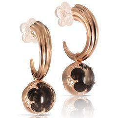 #PasqualeBruni #BonTon Collection 18k Rose Gold Earrings with #SmokeyQuartz…