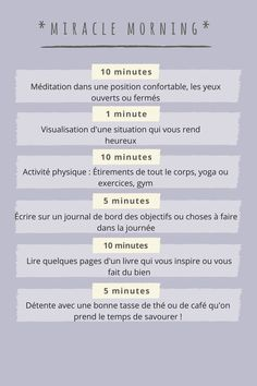 Life Quotes 62276407334026639 - Mon miracle morning – Mon petit moment bien être Source by bbmtw Flirty Good Morning Quotes, Positive Good Morning Quotes, Good Morning Inspirational Quotes, Good Morning Greetings, Quotes Positive, Vie Positive, Positive Mind, Positive Affirmations, Morning Affirmations
